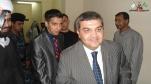 القنصل التركي السيد في مدينة البصرة السيد فاروق قيمقجي يزور المهرجان ملبيا الدعوة