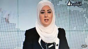 مذيعة محجبة تظهر للمرة الاولى في التلفزيون الرسمي المصري