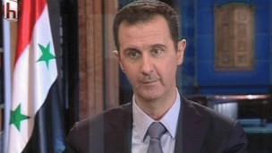 الأسد كرر شرطه بضرورة إلقاء المعارضة السلاح للتفاوض معها.