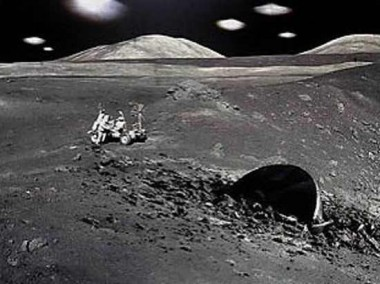 اكتشاف قاعدة غير ارضية على القمر