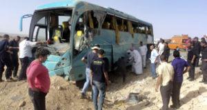 صورة من الارشيف لحادث وقع في سيناء في مايو / ايار 2013