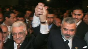 تشكيل حكومة وحدة وطنية سيكون الخطوة الأولى ضمن اتفاق المصالحة بين فتح وحماس.