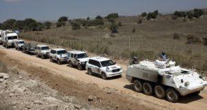 مئات عناصر الأمم المتحدة يغادرون الجولان السوري