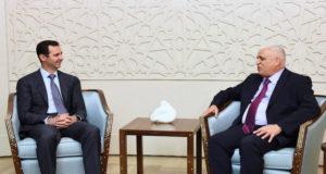 بشار الأسد في لقائه مع فالح الفياضي