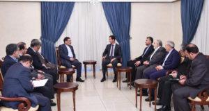لقاء الأسد وعلي شمخاني