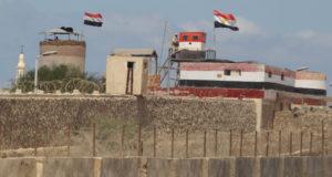 نقطة حدود مصرية مطلة على قطاع غزة