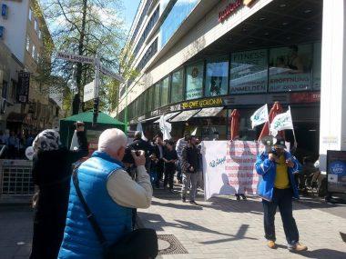 المسيرة تجوب شوارع كولونيا