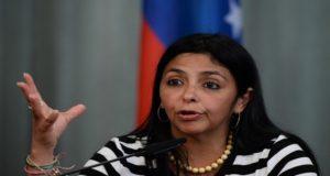 وزيرة خارجية فنزويلا ديلسي رودريغرس