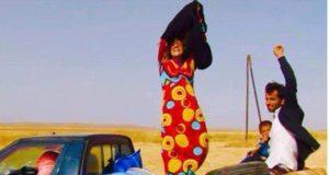 كردية تخلع رداء داعش