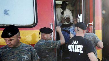 قطار يقل لاجئين في هنغاريا