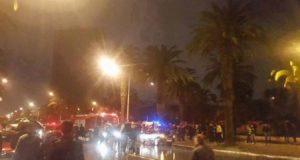 صورة لمكان الانفجار