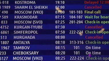 جدول مواعيد الطائرات في مطار سان بطرسبورغ الروسي