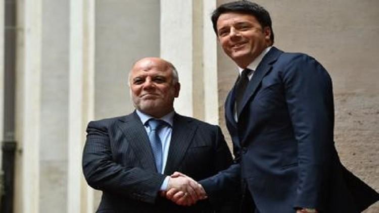 رئيس الوزراء العراقي حيدر العبادي ونظيره الإيطالي