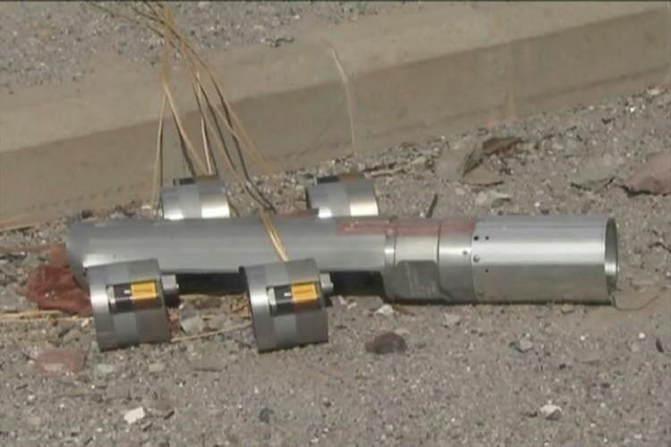 """عبوة """"بي إل يو-108"""" بها جميع وحدات الـ """"skeet"""" (الذخائر الصغيرة) كاملة سنحان، بمحافظة صعدة، 21 مايو/أيار."""