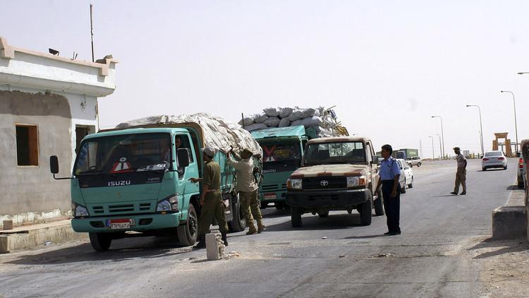 الحدود الليبية المصرية