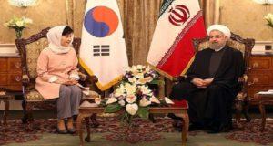 """محادثات بين الرئيس الإيراني """"حسن روحاني"""" ورئيسة كوريا الجنوبية"""" بارك كون هيه"""""""