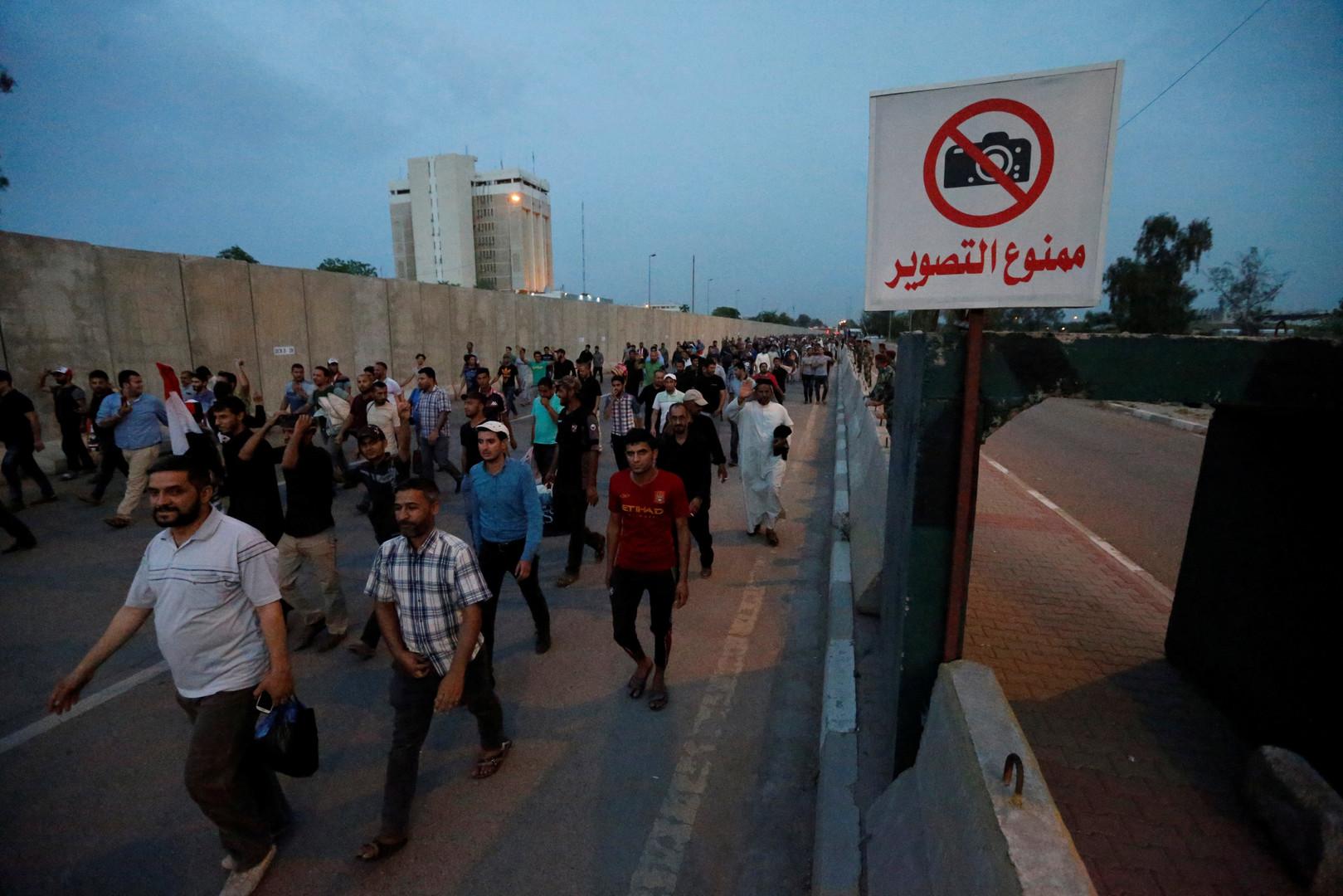 المعتصمون يغادرون المنطقة الخضراء وسط بغداد