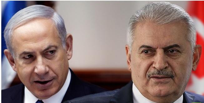 رئيسا وزراء تركيا وإسرائيل