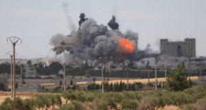 """غارات التحالف الدولي على مواقع لـ""""داعش"""" في منبج"""