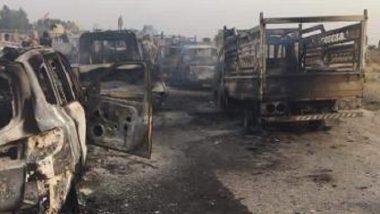 """تدمير سيارات """"داعش"""" جنوب الفلوجة"""