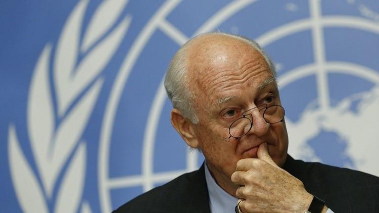 ستيفان دي ميستورا المبعوث الأممي الخاص لسوريا