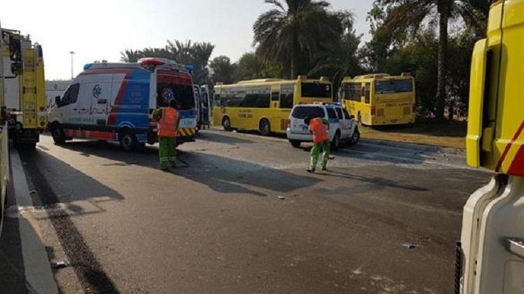 موقع حادث أبو ظبي