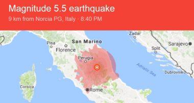 زلزال عنيف يضرب ايطاليا