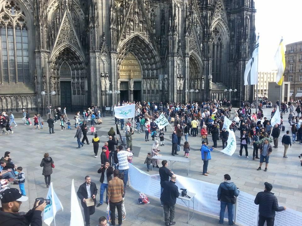 صورة بالصور: صيحة تبليغية لأنصار الامام المهدي ع في مدينة كولونيا الألمانية