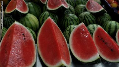 Watermelons at a stall at the Municipal