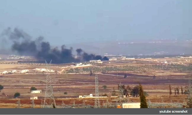 صورة سوريا:تضارب الأنباء عن سقوط طائرة بريف حلب الجنوبي وأسر طياريها