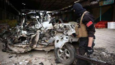 صورة قتلى مدنيون بانفجار سيارة مفخخة شمالي سوريا