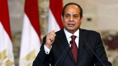 صورة الرئيس المصري يشدد على ضرورة التصدي للدول التي تموّل الإرهاب