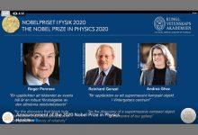 صورة جائزة نوبل في الفيزياء تُمنح لثلاثة علماء لجهدهم حول الثقوب السوداء